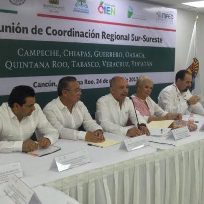 Celebran en Cancún reunión Sur-Sureste de infraestructura educativa