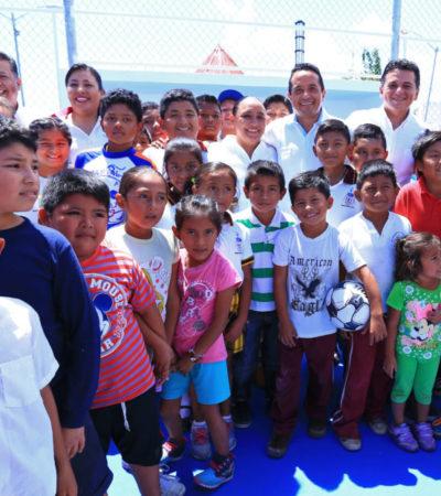 LE CUMPLEN A VILLAS DEL SOL: Entrega Gobernador y Alcaldesa tres nuevos parque públicos totalmente equipados