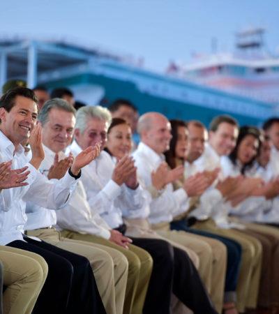 Anuncia Peña Nieto construcción de ducto petrolero entre Progreso y Cancún con inversión de 3,600 mdp
