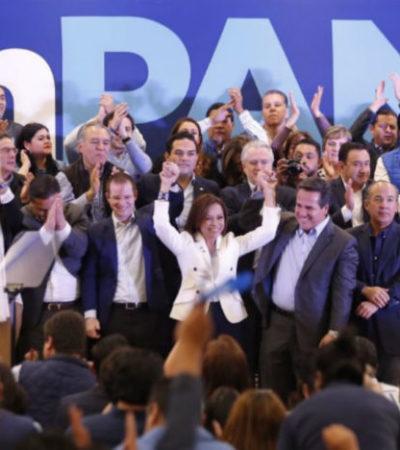 Rinde protesta Josefina Vázquez Mota como candidata panista al gobierno del Edomex