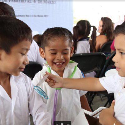 ARRANCA SEMANA DE VACUNACIÓN EN QR: Aplicarán más de 60 mil dosis contra la poliomielitis