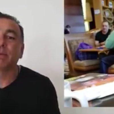 ACUSA MIMENZA INTENTO DE SOBORNO: Muestra maletín con 5 mdp que, dice, Félix González le envió para callarlo; acepta dinero para donarlo, aclara