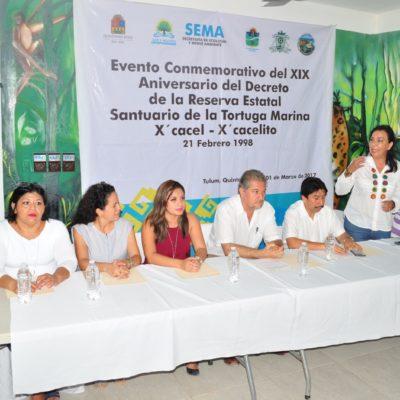 Celebran protección a la tortuga marina en el aniversario del decreto de creación del santuario de X'cacel X'cacelito