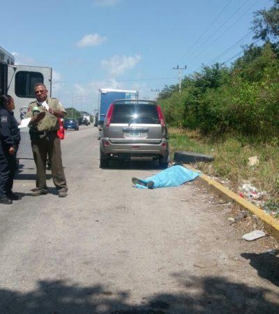 LO GOLPEÓ UNA LLANTA EN CUMPLIMIENTO DE SU DEBER: Muere por 'Crococun' en extraño accidente un integrante de los 'Ángeles Verdes'