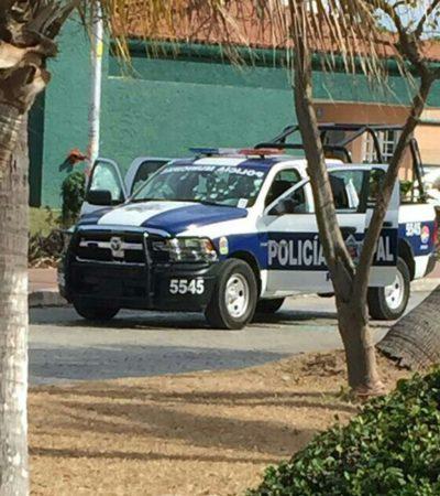 NUEVO ATAQUE FRONTAL CONTRA LA POLICÍA DE CANCÚN: Emboscan a una patrulla por el IMSS de la Cobá; hay 3 heridos