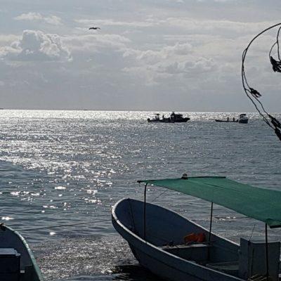 Aparece cuerpo flotando de un hombre en Puerto Juárez; habría caído de velero