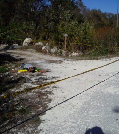 Con un disparo en la nuca, encuentran a hombre ejecutado en Chemuyil
