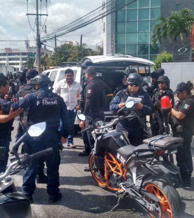 EL MIEDO NO ANDA EN BURRO: Acuden 40 policías a la detención de presunto escolta que conducía Suburban a exceso de velocidad