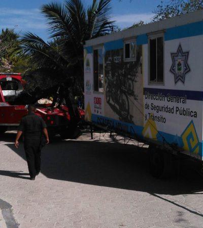 Trasladan a Akumal caseta móvil de vigilancia policiaca