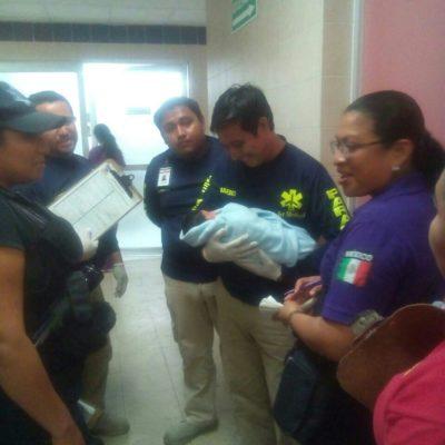 Reportan con buen estado de salud a bebé abandonado ayer en una bolsa en la Región 104 de Cancún