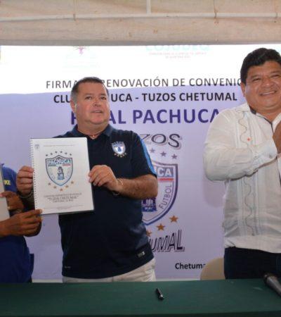 Renuevan contrato entre Tuzos Chetumal y el Club Pachuca