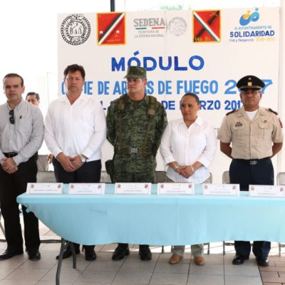 Inicia Sedena programa de canje de armas en Solidaridad