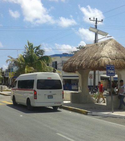 Después de años de anarquía, acuerdan crear terminal foránea para transporte colectivo en Tulum