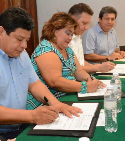 Atestigua Luis Torres firma del convenio de colaboración entre la delegación de la Secretaría de Economía y el Conalep en Chetumal