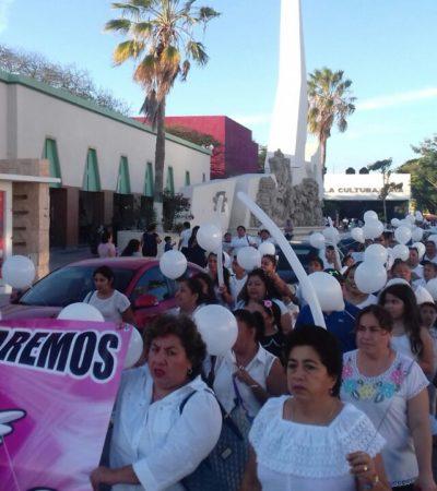 MARCHAN POR SAHIRELY EN CHETUMAL: Protestan cientos por muerte de menor en caso de presunta negligencia médica en el IMSS