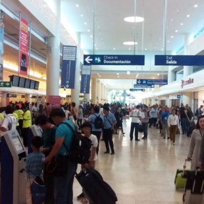 Por mal tiempo, se cancelaron este lunes hasta 10 vuelos entre Cancún y Estados Unidos