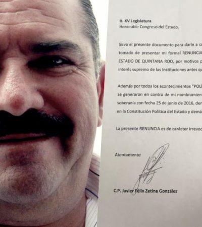 YA ES OFICIAL… RENUNCIA 'JAVICHO': Tras varios amagues, Javier Zetina González presenta su dimisión a la Auditoría Superior