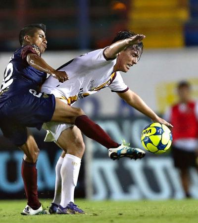CAE ATLANTE ANTE CORAS: Potros termina 0-2 ante Tepic en partido como anfitriones en Cancún
