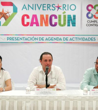 Presentan actividades del 47 aniversario de Cancún