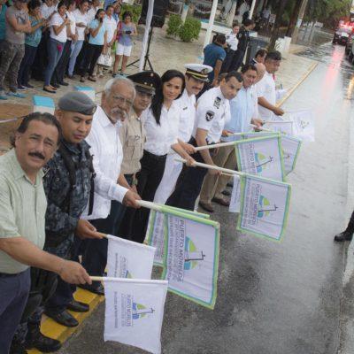 DAN BANDERAZO A LAS VACACIONES: Inician operativo 'Semana Santa 2017' en Puerto Morelos