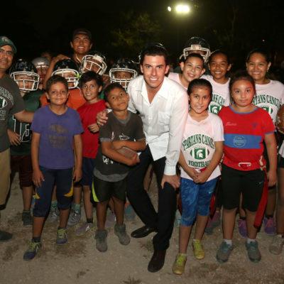 Anuncia Remberto Estrada rehabilitación del domo deportivo de la SM 60 de Cancún