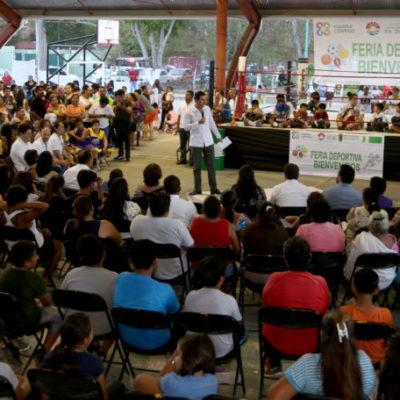En 'Feria Deportiva', confirma Alcalde recursos para equipar 150 gimnasios al aire libre en Cancún