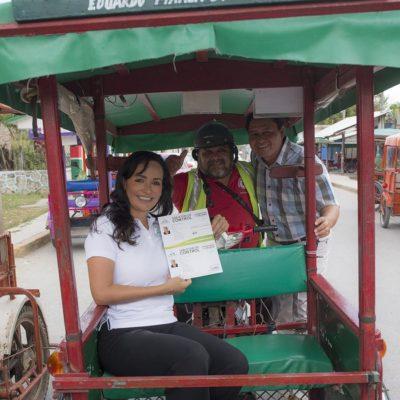 Entregan tarjetones de control a sindicatos de mototaxis de Leona Vicario
