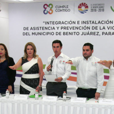 Instalan Consejo de Asistencia y Prevención de la Violencia Intrafamiliar en Cancún
