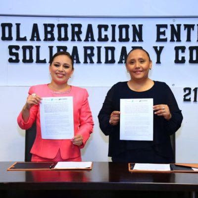 Firman convenio de colaboración Alcaldesas de Solidaridad y Cozumel