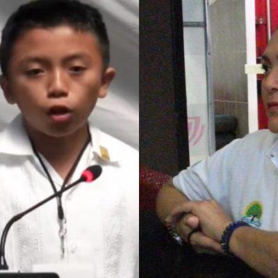 Diputado infantil y su comunidad de Xcabil despiertan el oportunismo político de funcionaria