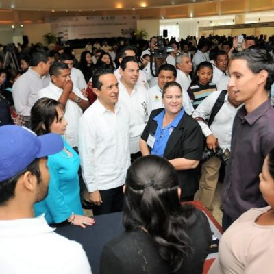 """Crece Quintana Roo 10.10% en creación de empleos por """"manejo responsable"""" de recursos, afirma Carlos Joaquín"""