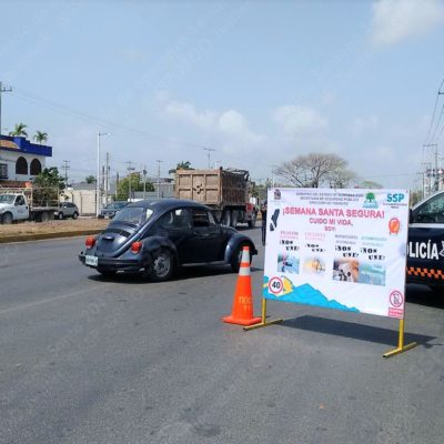 Mantienen operativos de vigilancia especial por temporada vacacional de Semana Santa