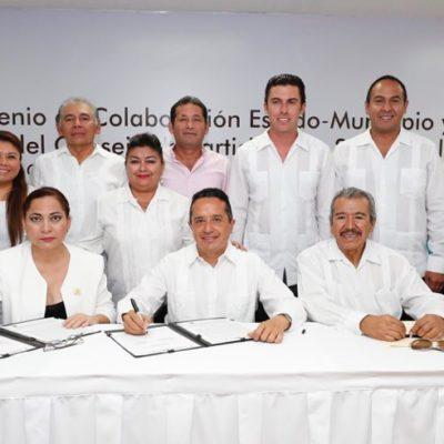 Pactan Estado y municipios compromiso para mejorar la educación en QR