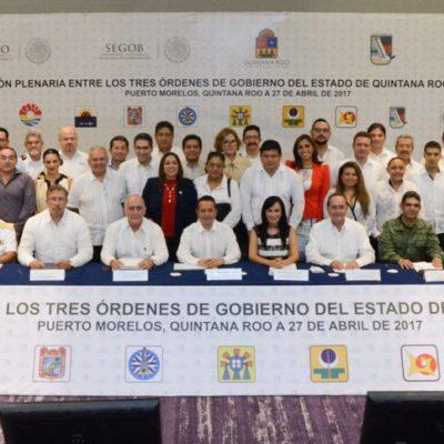 REUNIÓN DE LOS TRES NIVELES DE GOBIERNO: Reitera Carlos Joaquín que con transparencia y rendición de cuentas se corrige el rumbo de QR