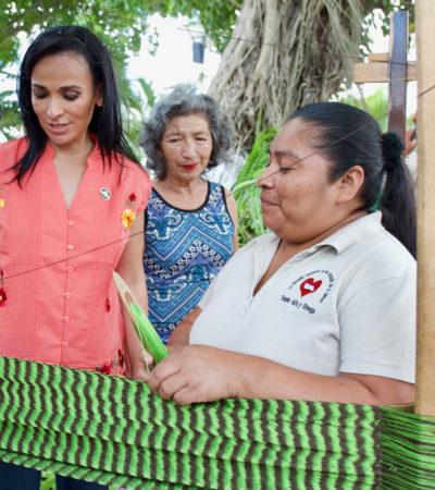 Fomentan autoempleo entre mujeres con curso especializado para el urdido de hamacas en PUERTO mORELOS