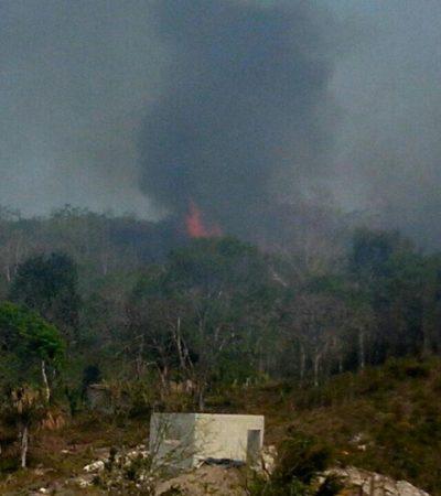 Disminuye riesgo para la comunidad de González Ortega por incendio forestal