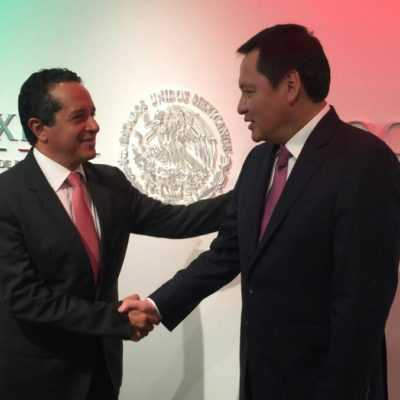 REUNIÓN EN LA CDMX: Gobernador discute con Osorio Chong temas de seguridad para QR