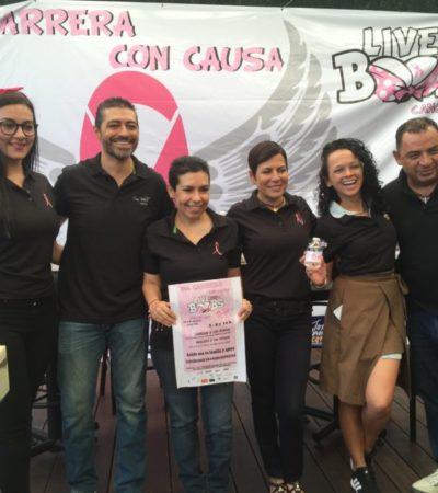 CORREN CONTRA EL CÁNCER: Organizan competencia para recaudar fondos para mujeres con la enfermedad en Cancún