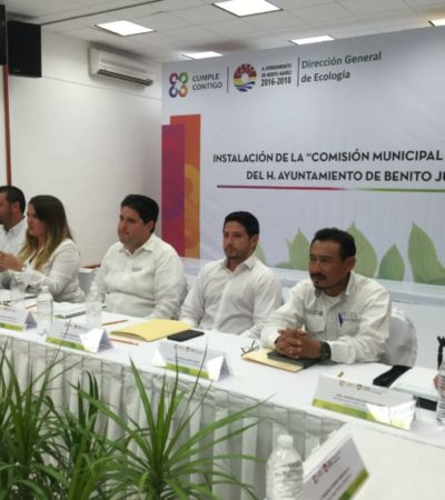 Instalan Comisión de Ecología de Benito Juárez