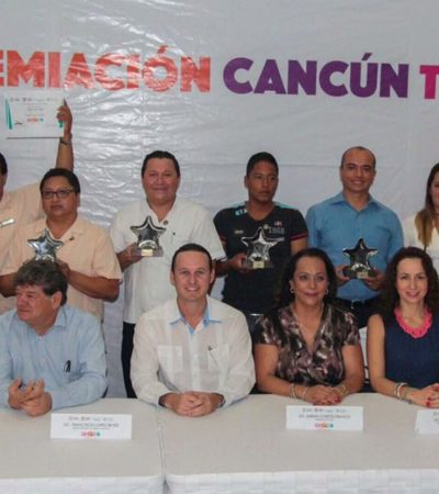 Premian a prestadores de servicios turísticos en Cancún