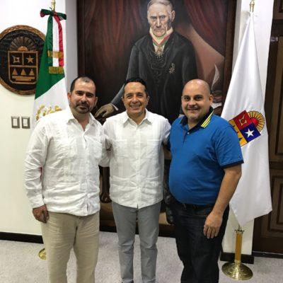 REFRENDAN PARTIDOS ALIANZA CON EL GOBERNADOR: Se reúnen líderes del PRD y PAN con Carlos Joaquín