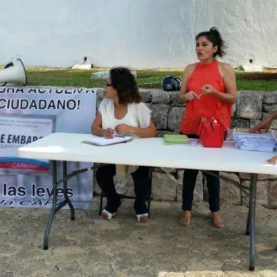 Recaban firmas para enfrentar abusos y excesos de CAPA en Chetumal