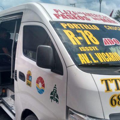 Dice la Sintra que no avala el incremento de tarifas al transporte público en Cancún