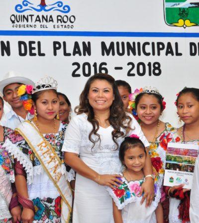 """Presenta 'Romi' ambicioso Plan Municipal de Desarrollo para """"transformar las condiciones de vida"""" de los tulumnenses"""