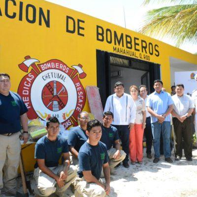 MAHAHUAL YA TIENE ESTACIÓN DE BOMBEROS: Inaugura Luis Torres histórico centro para combatir incendios en el destino turístico