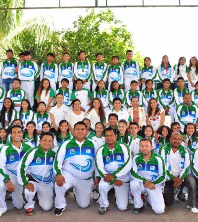 Reconocen logros de deportistas de Tulum que juntos ganaron 105 medallas