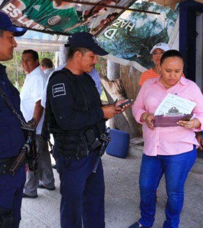 Supervisa Alcaldesa filtros de acceso a Playa del Carmen