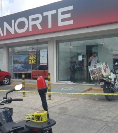 PRELIMINAR | ASALTAN UN BANORTE EN CANCÚN: Atracan banco a mano armada en la Avenida López Portillo