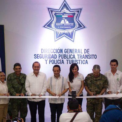 Inauguran Gobernador y Alcaldesa instalaciones de Seguridad Pública en Puerto Morelos