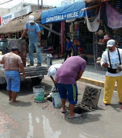 Limpian pozos de absorción en Tulum ante lluvias atípicas